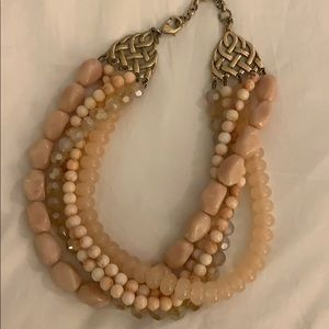 Banana Republic pink statement necklace